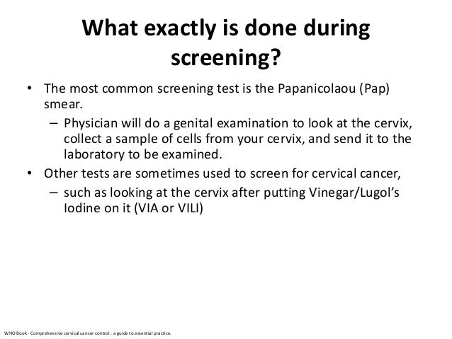 comprehensive cervical cancer control a guide to essential practice