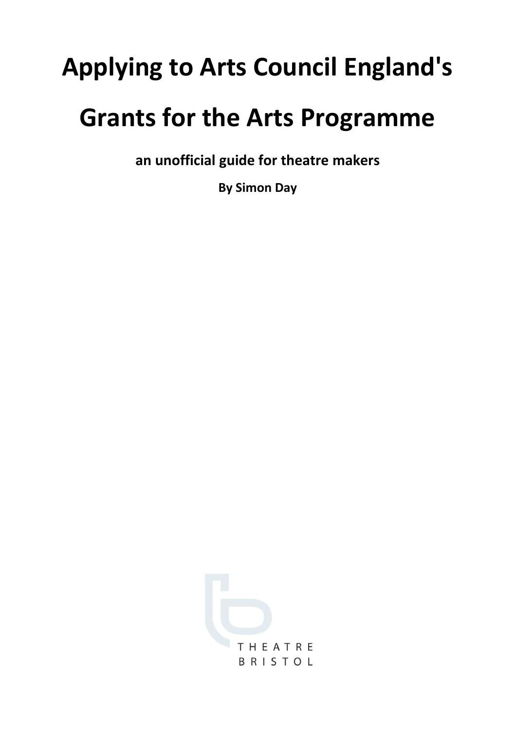 guide to canadian arts grants